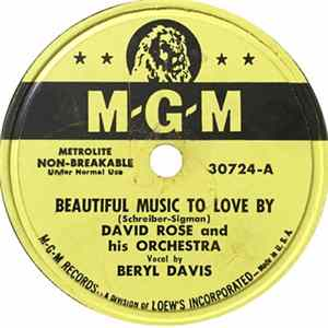 David Rose & His Orchestra - Beautiful Music To Love By / Suddenly