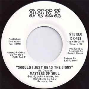 Masters Of Soul - Should I Just Read The Signs